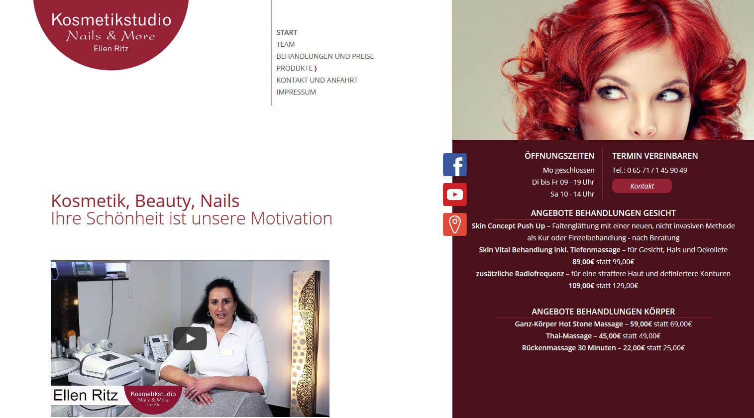 Image of Radiofrequenz Kosmetik und Medical Beauty im Fachinstitut für Dermakosmetik® in Wittlich: Kosmetikstudio Ellen Ritz