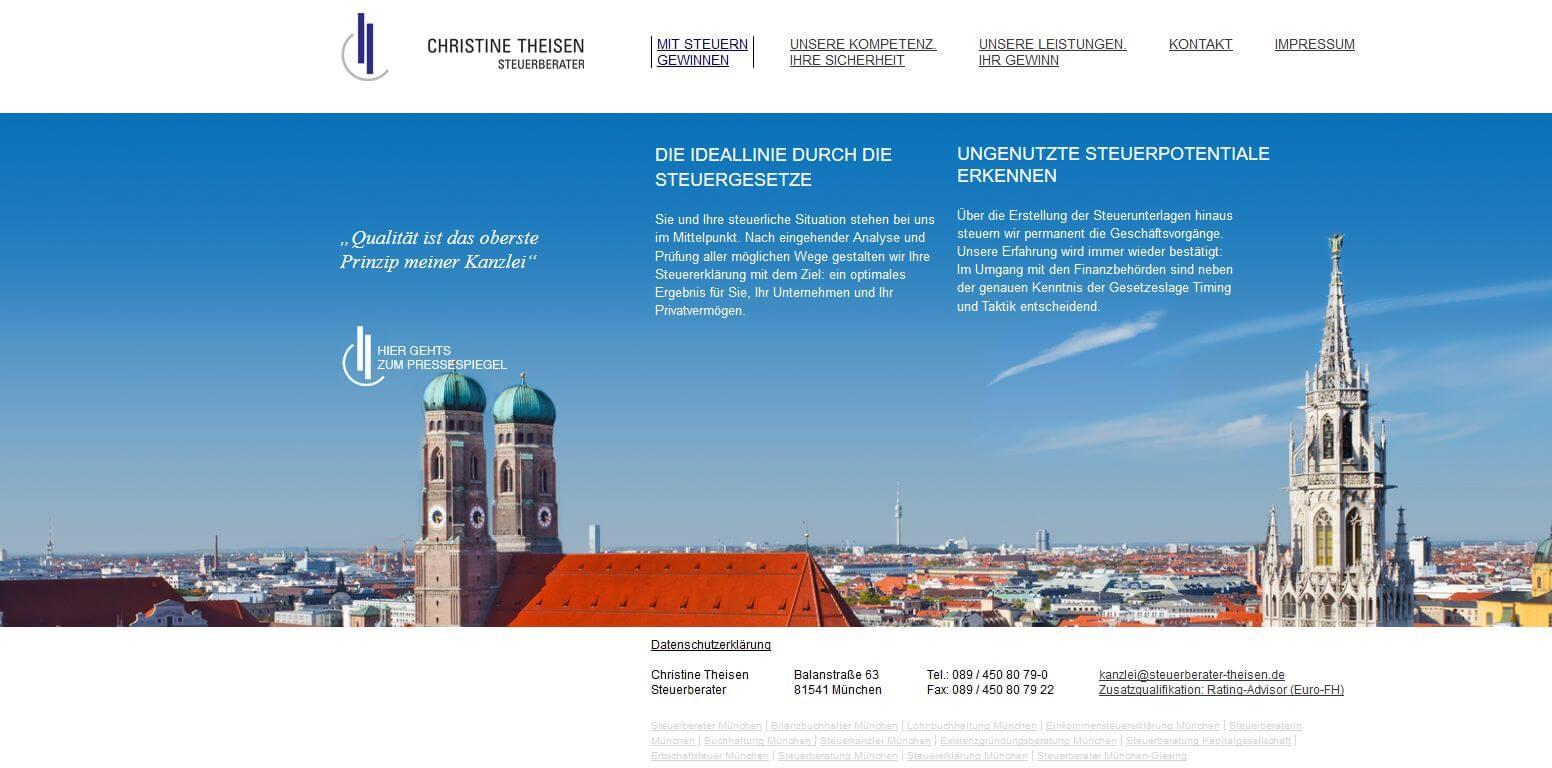 Image of Fundierte Steuerberatung in München: Steuerberaterin Christine Theisen