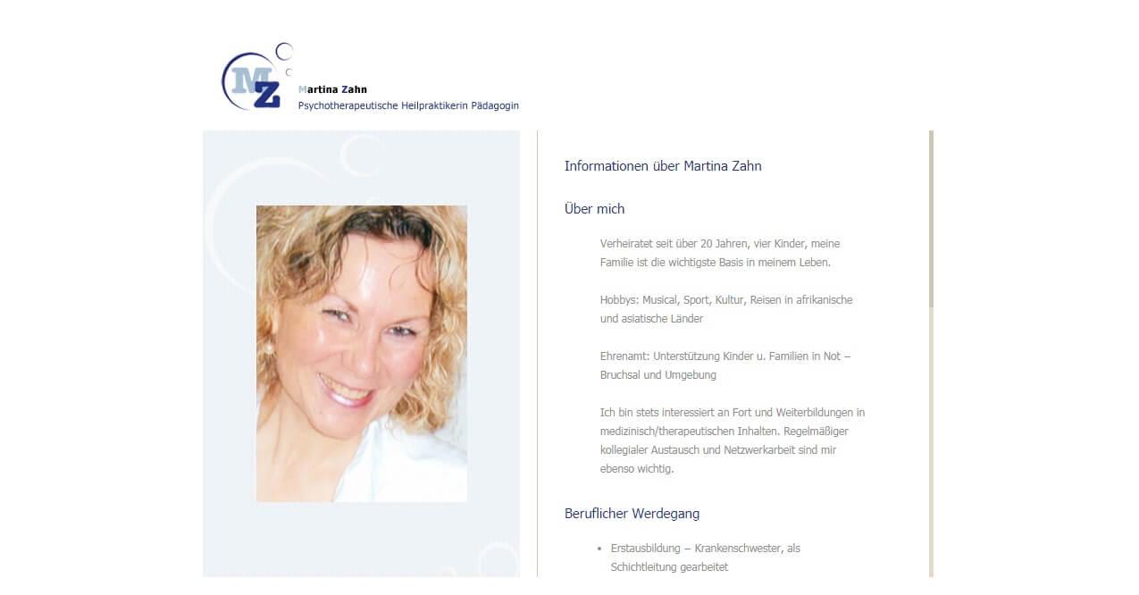 Image of Engagierte psychotherapeutische Heilpraktikerin Martina Zahn in Östringen