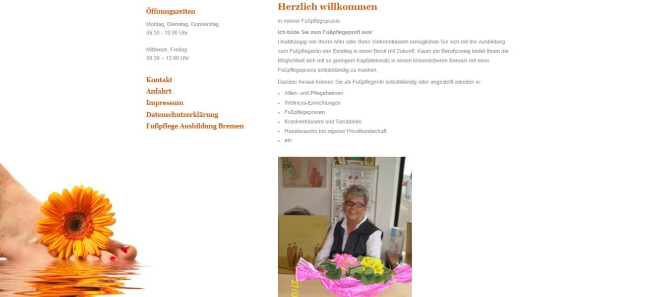 Image of Fußpflegeausbildung: Intensivkurs in der Fußpflegeschule Ute Cramer in Bremen