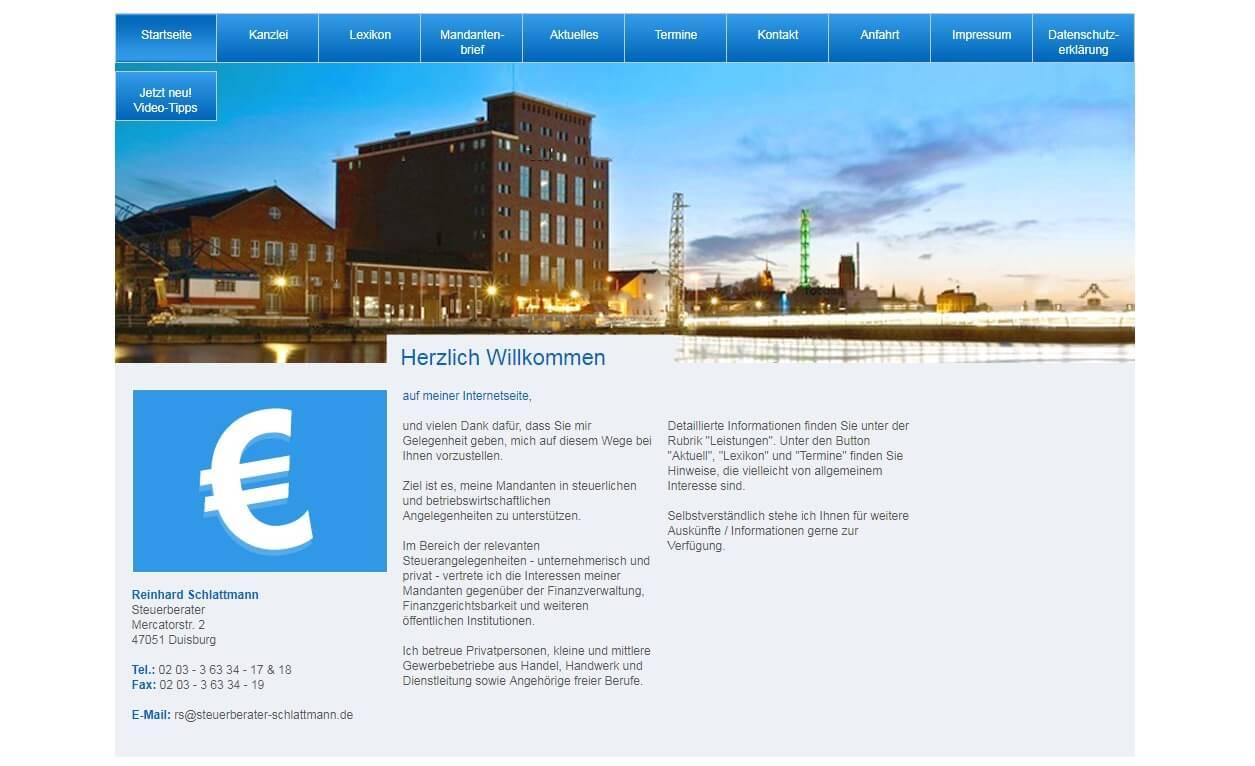 Image of Steuerberatung vom Experten: Steuerberater Reinhard Schlattmann in Duisburg