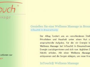 Bild zum Artikel: Wohlbefinden steigern: InTouch® Massage bei Dirk Wetzel in Braunschweig