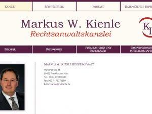 Bild zum Artikel: Markus W. Kienle Rechtsanwaltskanzlei in Frankfurt am Main