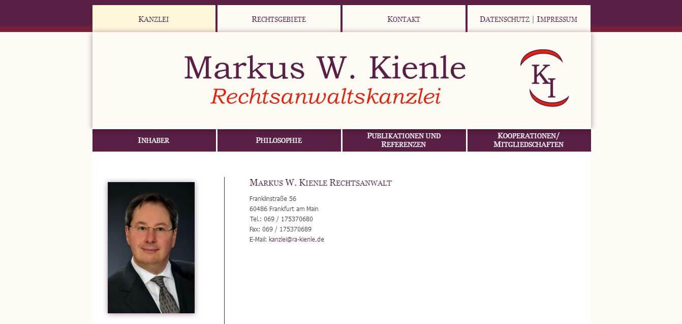 Image of Markus W. Kienle Rechtsanwaltskanzlei in Frankfurt am Main