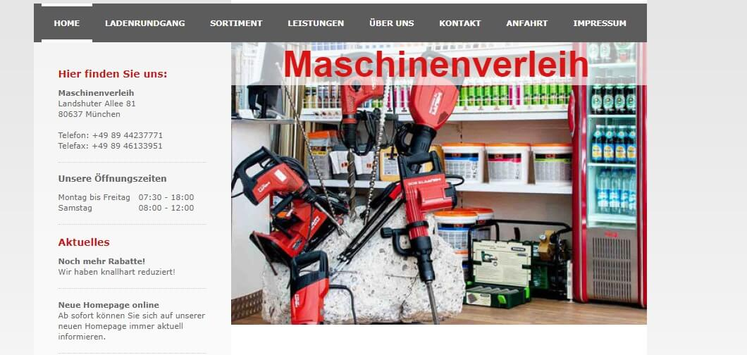 Image of Maschinenverleih in München