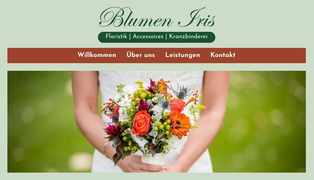 Image of Hochwertige Floristik: Blumen Iris in Hünxe