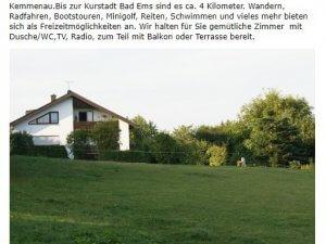 Bild zum Artikel: Pension Taunusblick in Kemmenau