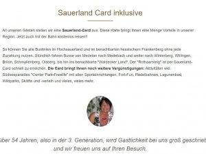 Bild zum Artikel: Pension Schweinsberg in Medebach: Komfortable Zimmer und Apartments im Hochsauerlandkreis