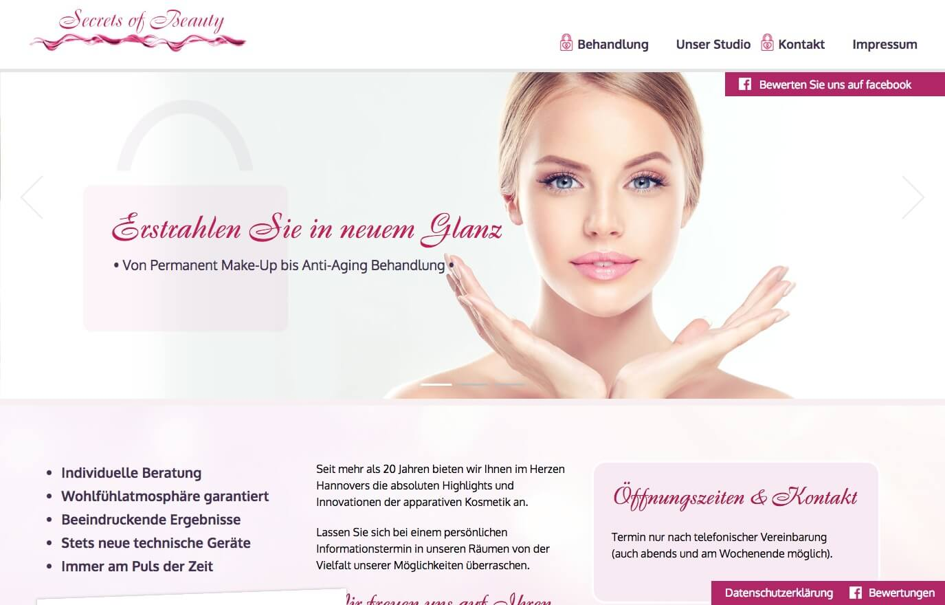 Image of Versierte Anti-Aging-Behandlungen in Hannover: Kosmetikstudio Secrets of Beauty