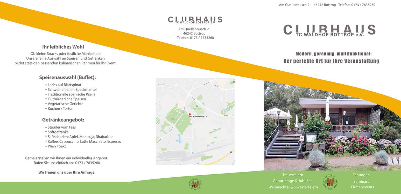 Image of Der perfekte Raum für Trauerfeiern: Das Clubhaus des TC Waldhof in Bottrop Vonderort nahe Oberhausen