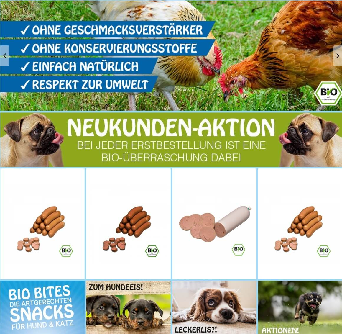 Image of Hochwertige Bio Snacks für Hunde: Hundewurst von Cold & Dog