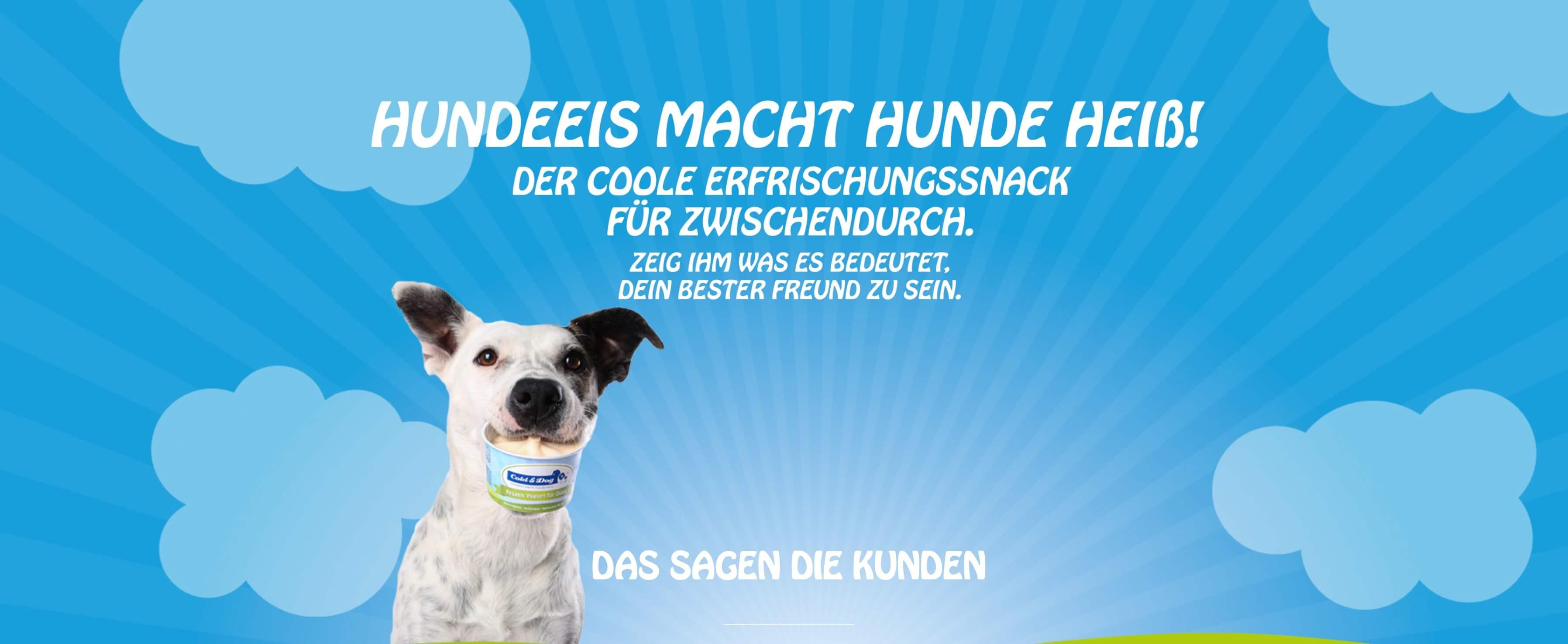 Image of Hundeeis macht Hunde heiß: Frozen Joghurt für Hunde von Cold & Dog