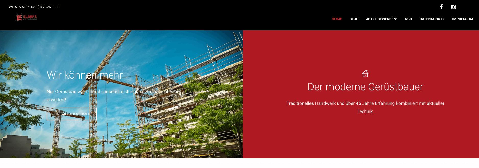 Image of Gerüstbau Elbers GmbH in Kleve: Zuverlässige Gerüste für Wesel, Kamp-Lintfort und Krefeld